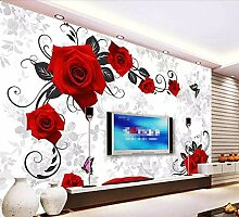 Fototapete 3D Effekt Tapeten Roter