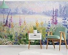 Fototapete 3D Effekt  Texture Blume Gras Von Hand