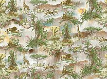 Fototapete 3D Effekt Tropenwaldgrünlandtiere