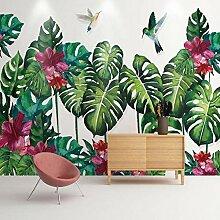 Fototapete 3D Effekt Tropische Blätter Tapete