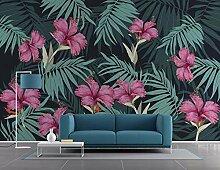 Fototapete 3D Effekt Tropische Pflanze, Blume,