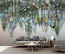 Fototapete 3D Effekt Tropische Pflanze Verlässt