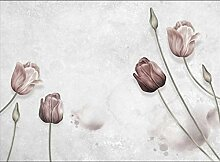 Fototapete 3D Effekt Vintage Tulpen -350Cmx245Cm