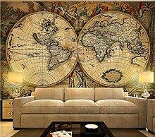 Fototapete 3D Effekt Vintage Weltkarte Wandbilder