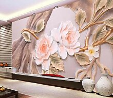Fototapete 3D Effekt Vlies Tapete Blumenrelief