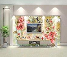 Fototapete 3D Effekt Vlies Tapete Geprägte Blume