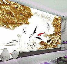 Fototapete 3D Effekt Vlies Tapete Holzschnitzerei