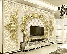Fototapete 3D Effekt Vlies Tapete Luxus - Goldene