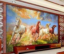 Fototapete 3D Effekt Vlies Tapete Pferd Kunst
