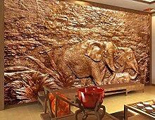 Fototapete 3D Effekt Vlies Tapete Reliefskulptur