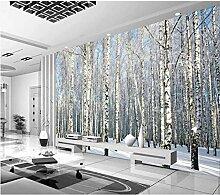 Fototapete 3D Effekt Vlies Wand Tapete Birkenwald