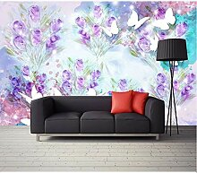 Fototapete 3D Effekt Vlies Wand Tapete Lila