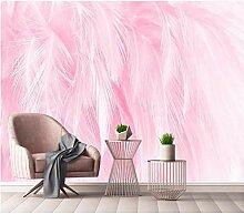 Fototapete 3D Effekt Vlies Wand Tapete Rosa Feder