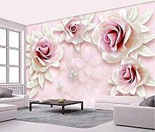 Fototapete 3D Effekt VliesRosa Blumenschmetterling