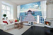 Fototapete 3D Effekt Vliestapete Balkon
