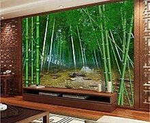 Fototapete 3D Effekt Vliestapete Bambus-Waldstein