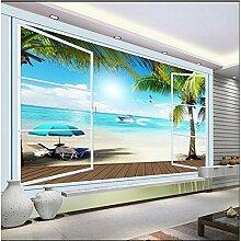 Fototapete 3D Effekt Vliestapete Fenster Meer