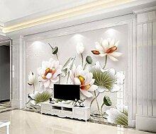 Fototapete 3D Effekt Vliestapete Geprägte Lotus