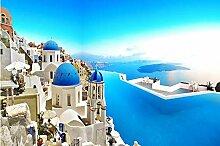Fototapete 3D Effekt Vliestapete Santorini