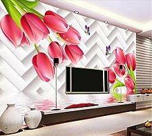 Fototapete 3D Effekt Vliestapete Tulip Reflexion