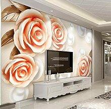 Fototapete 3D Effekt Wandbild Rosafarbene Perle