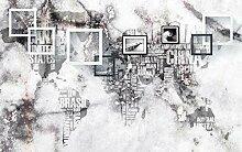 Fototapete 3d Effekt Weltkarte Mit Steinbuchstaben