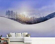 Fototapete 3D Effekt Winterwaldlandschaftsmalerei