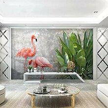 Fototapete 3D Flamingo Design Tapete Fototapeten