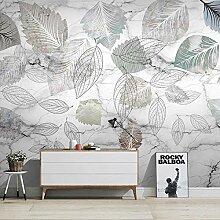 Fototapete 3D Fototapete Pflanze Blätter weiße