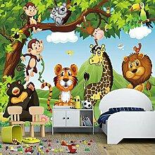 Fototapete 3D Für Kinderzimmer Cartoon Tier Tiger