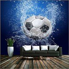 Fototapete 3D Fußball Foto Kinderzimmer Wand