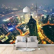 Fototapete 3D Gebäude Mit Nachtansicht 3D