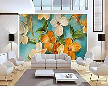 Fototapete 3D Gelbe Blume Design Tapete