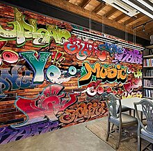 Fototapete 3D Geprägte Ziegel Tapete Graffiti Art