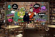 Fototapete 3D Graffiti Vintage Graffiti-Mauer