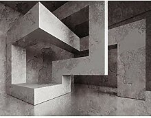 Fototapete 3D - Grau 396 x 280 cm Vlies Wand