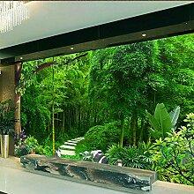 Fototapete 3D Green Bamboo Wandtapete Wandbild