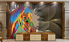 Fototapete 3D Hand Gezeichnetes Abstraktes Pferd