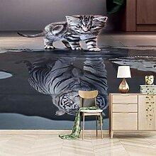 Fototapete 3D Katzenreflexion Vlies Fototapete