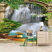 Fototapete 3D Landschaftswasserfall Vlies