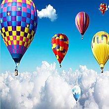 Fototapete 3D Luft Heißluftballon Auf Den Wolken