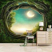 Fototapete 3D Märchenelfenzimmer Mond Vlies