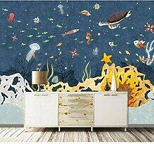 Fototapete 3D Mauer Unterwasser-Tier Tapeten Retro