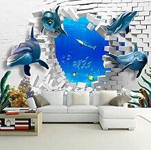 Fototapete 3D Meerestierwal Benutzerdefinierte 3D