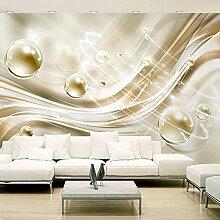 Fototapete 3D moderne goldene Kreisballstreifen