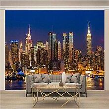 Fototapete 3D Moderne Stadtnachtansicht 250x175cm