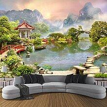 Fototapete 3D Orientalische Gartenlandschaft