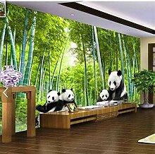 Fototapete 3D Panda Wandmalerei Riesigen Panda