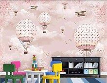Fototapete 3D Pink Hot Air Balloon Mauer Tapeten