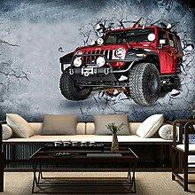 Fototapete 3D Retro Auto rissige Wand Wand Tapete